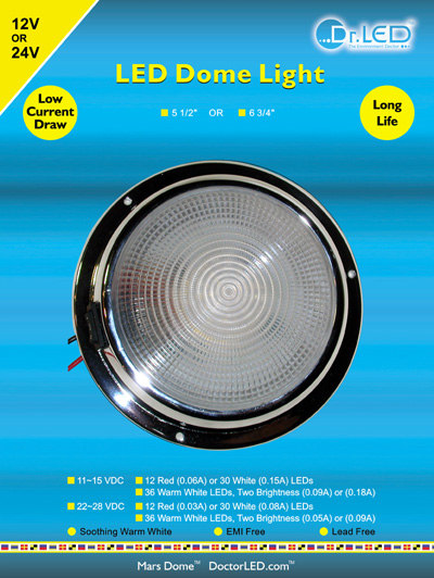 marine LED dome light in retail package