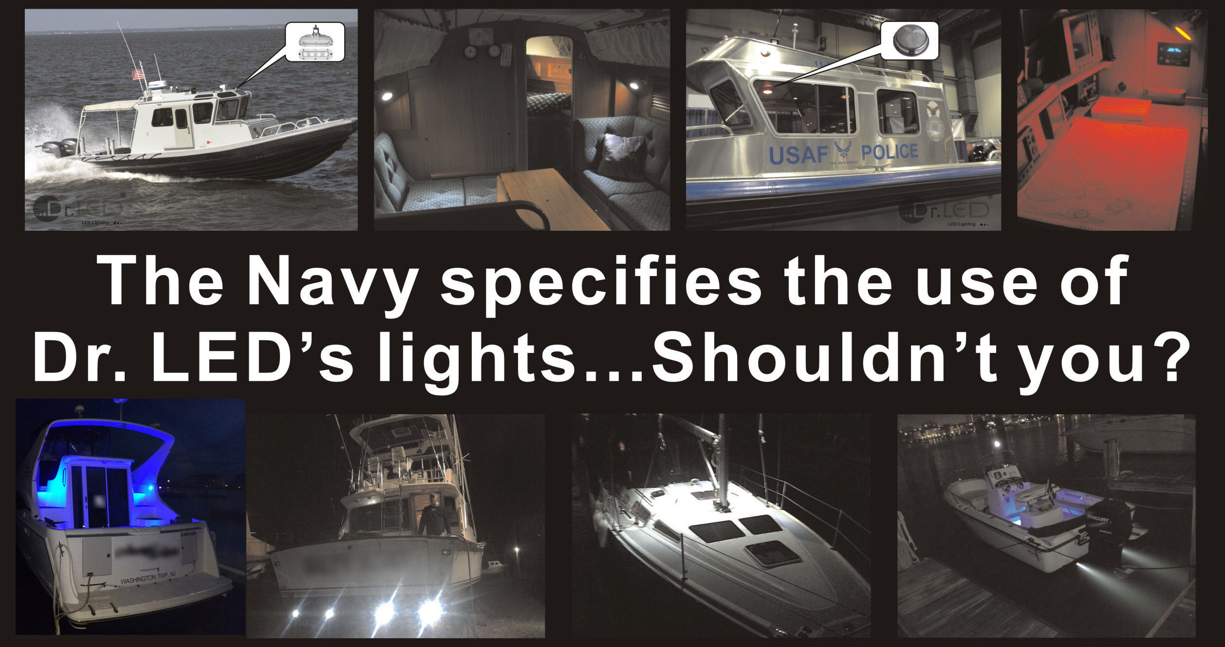 Dr. LED Marine Lighting banner boats with lights