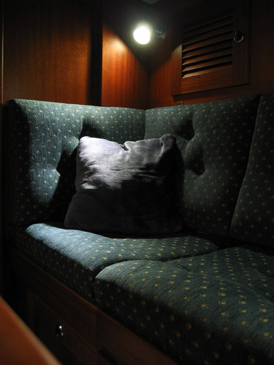 sail boat interior with LED light