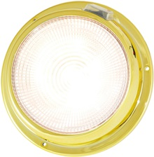 "5.5"" LED brass dome light warm white"