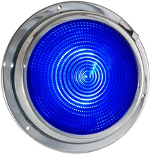 "5.5"" LED dome light blue"