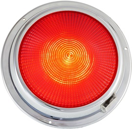 "6 3/4"" LED dome light red"