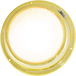 "6 3/4"" LED brass dome light warm white"