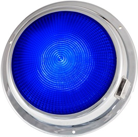 "6 3/4"" LED dome light blue"