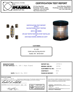 2nm USCG cert festoon bulb