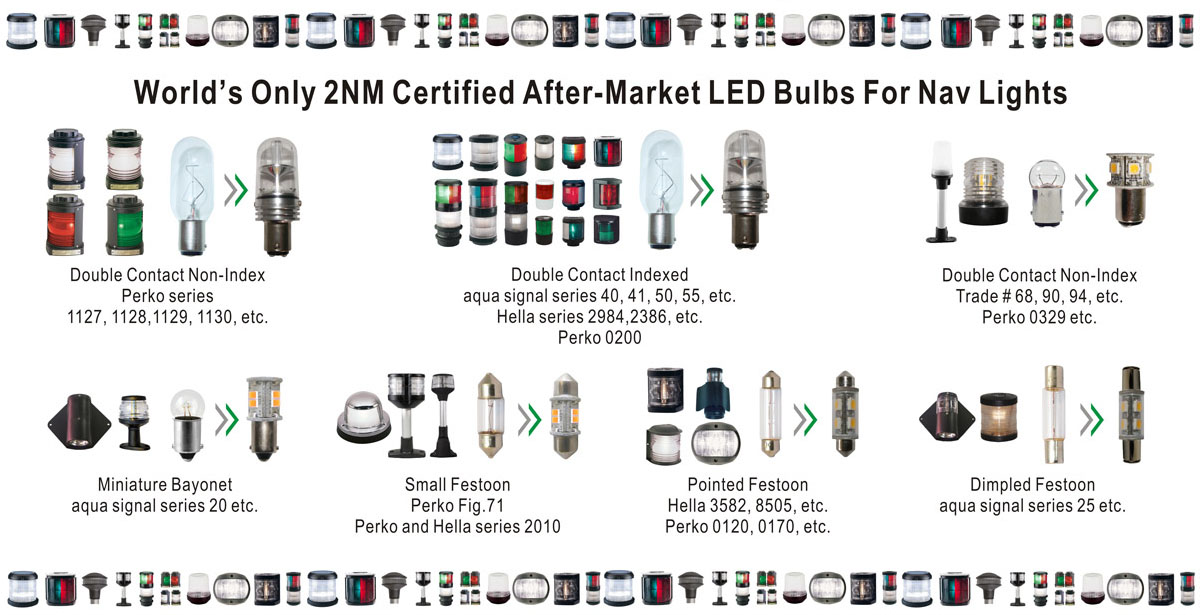 LED nav bulb & light banner