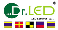 Dr. LED marine flag logo