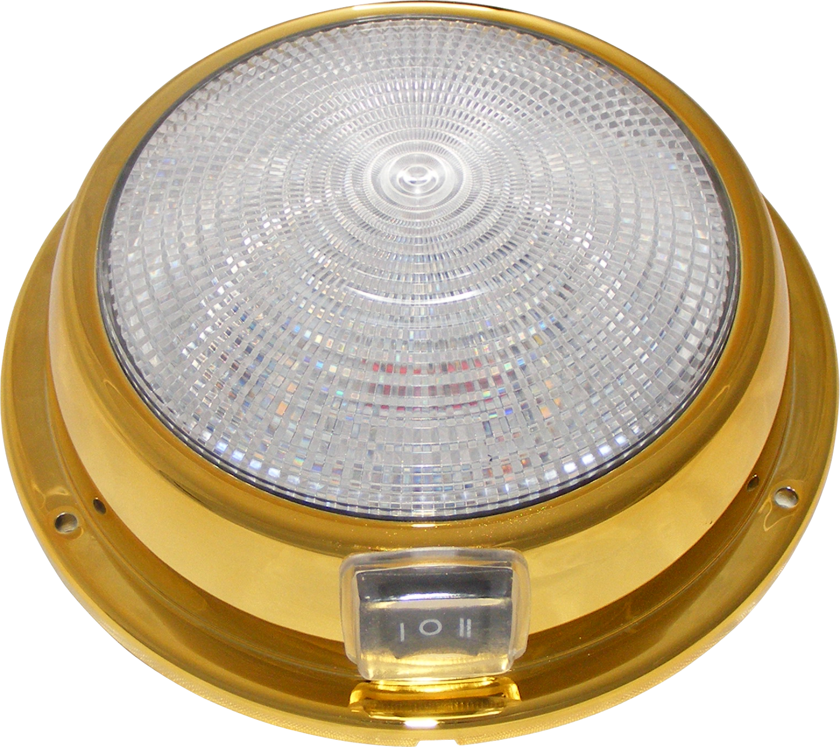 brass color marine LED dome light