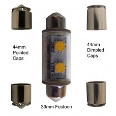 36-44mm White Festoon Star (12V)