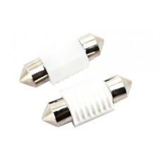 12/24V 31mm Cool-White Single Sided Festoon Bulb x 2