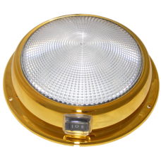 6 3/4 inch White/Red Mars Dome (Brass) 	12/24V